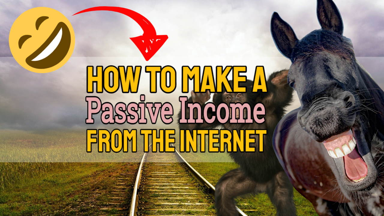 """Featured image text: """"How to make a passive income from the internet""""."""