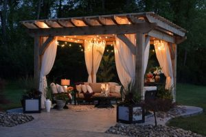 pergola fairy lights