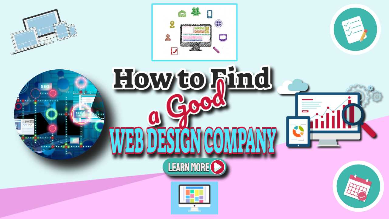 "Featyred image text: ""How to find a good website design company""."